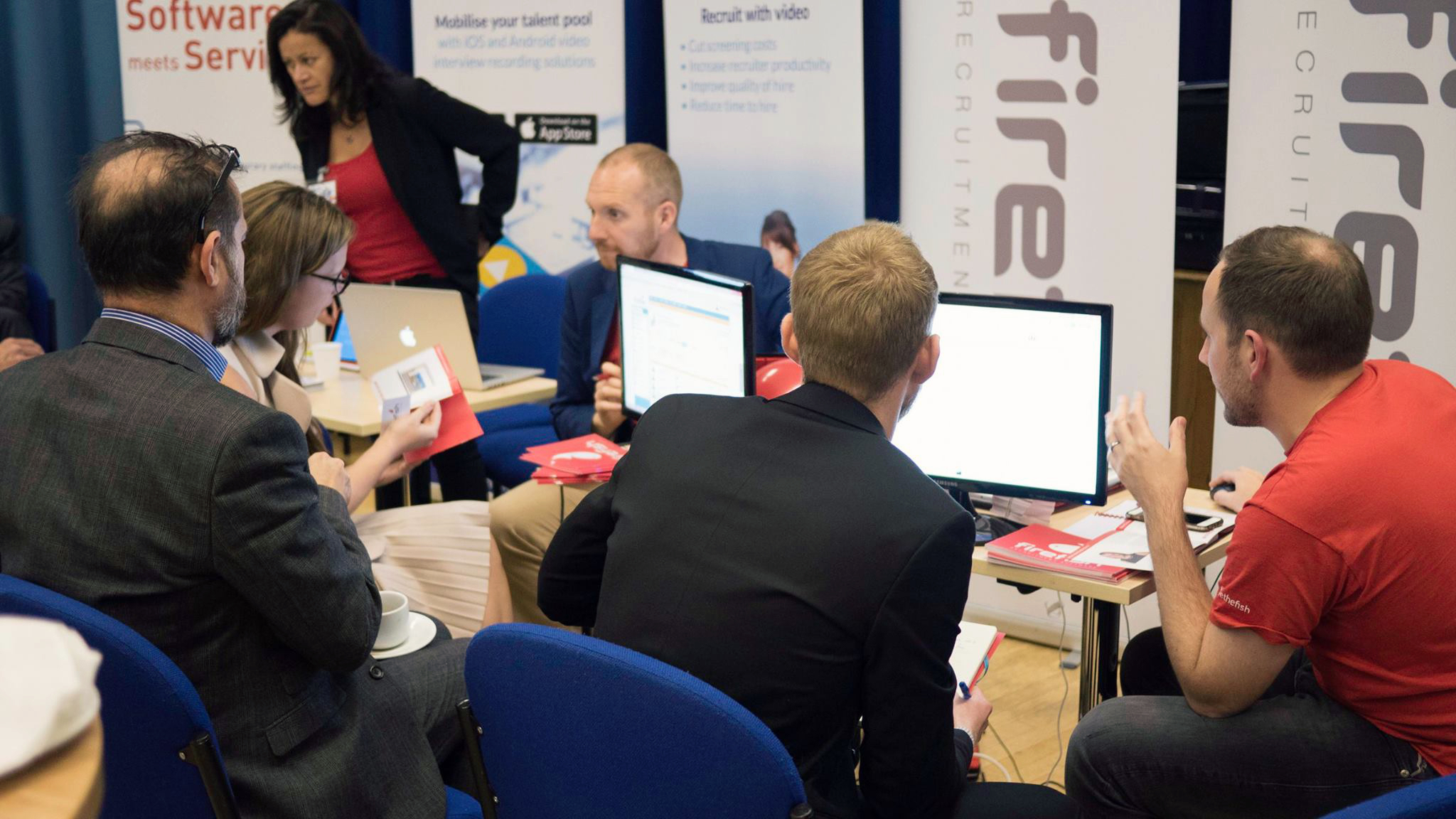 Cammy McLennan does a demo at the UK Recruiter Showcase