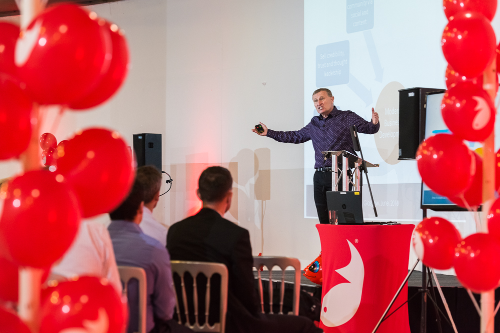 Greg Savage speaks at Firefish Software's Future Of Recruitment event in 2016