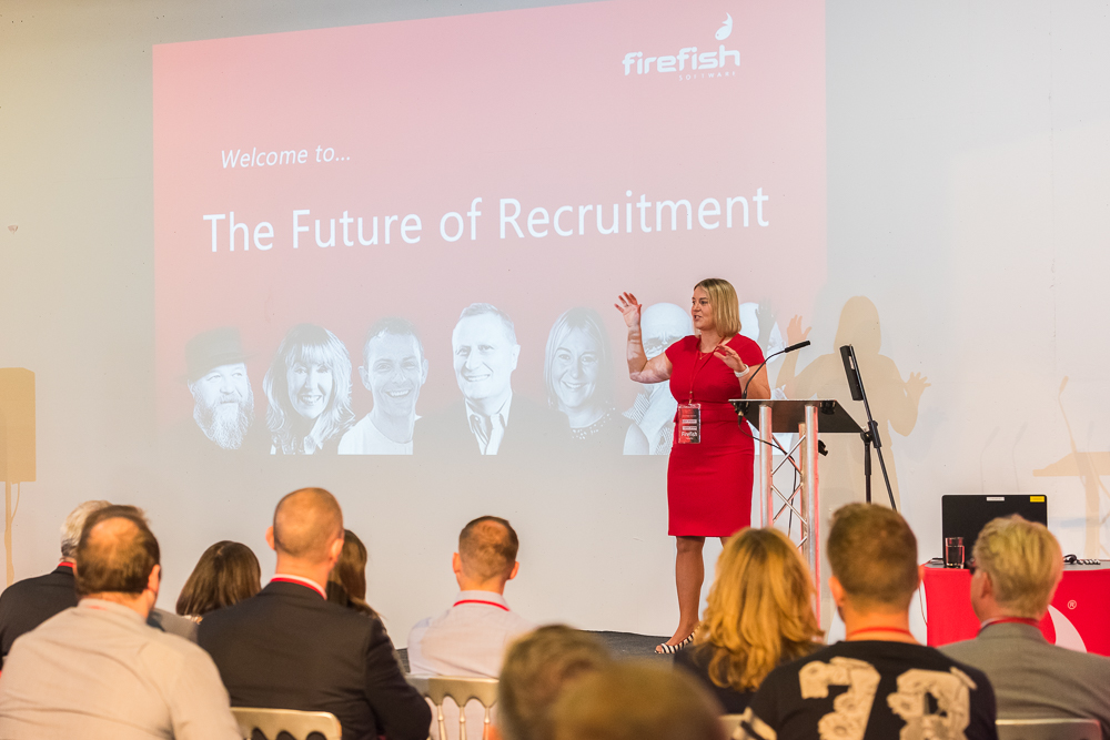 Wendy McDougall of Firefish Software speaks at the Future Of Recruitment event 2016