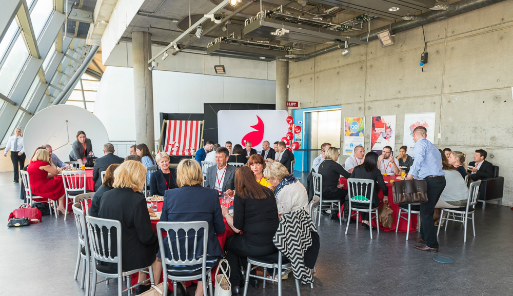 Attendees of Firefish Software's Future Of Recruitment event enjoy lunch
