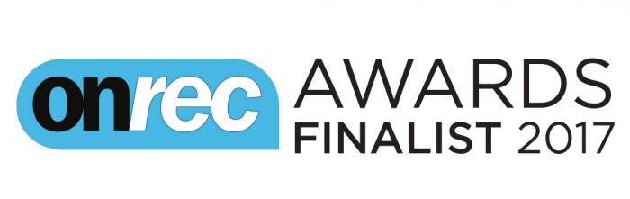 Onrec Award Finalist 2017 logo
