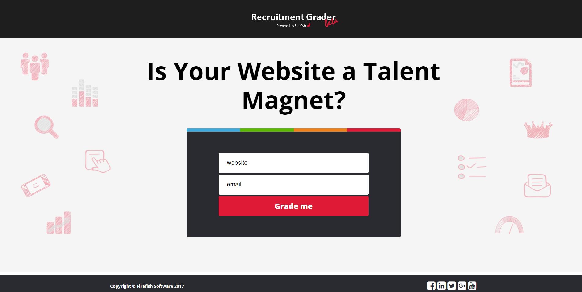 A Screenshot of the Recruitment Grader
