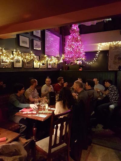The Firefish Software Team enjoy Christmas Dinner