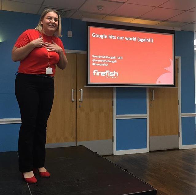 Wendy McDougall at the UK Recruiter Tech Showcase 2018