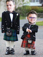 Boys in Kilts with photoshopped faces