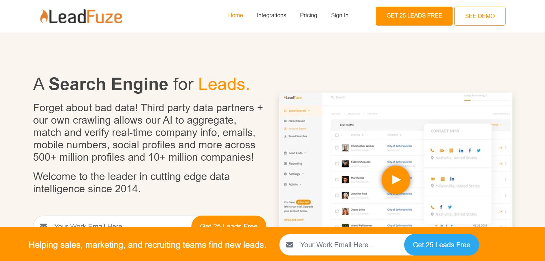 LeadFuze Website