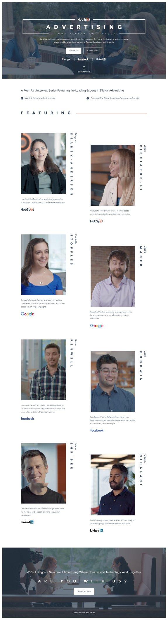 Example of HubSpot's Webinar Landing Page