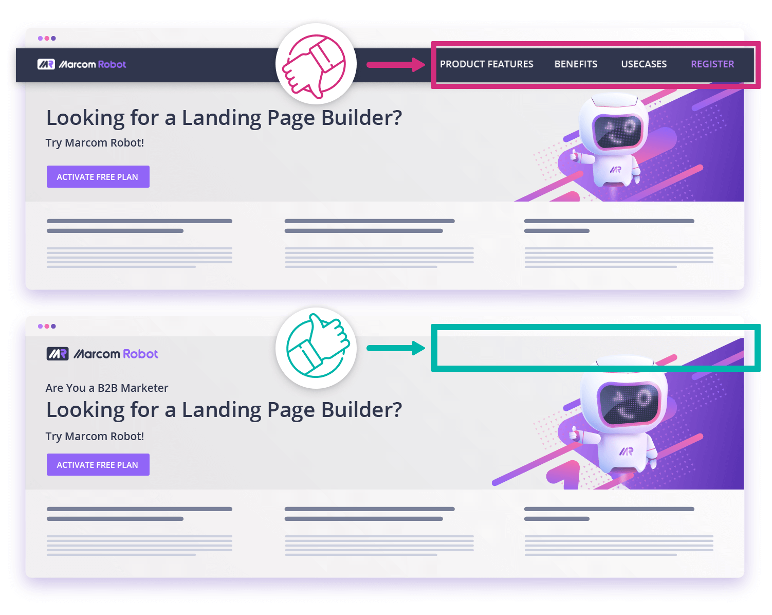 How your landing page header should look like