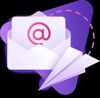 Marcom Robot Email Marketing Illustration