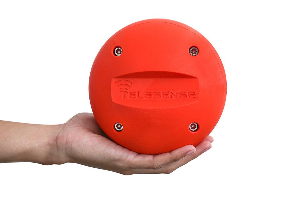 Telesense sensor ball for monitoring grain storage