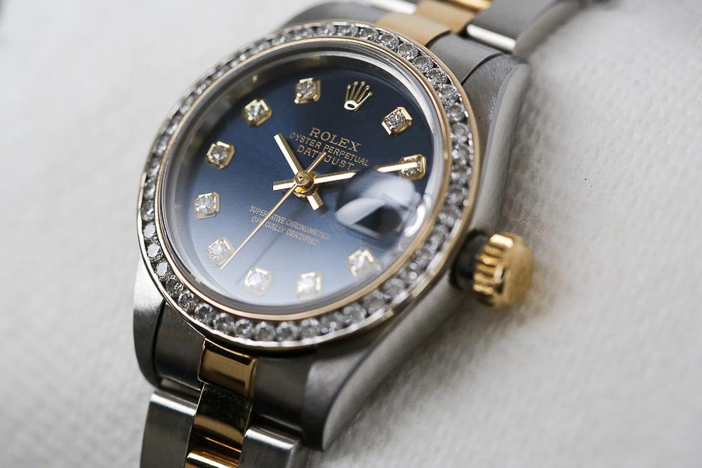 Blue Rolex watch