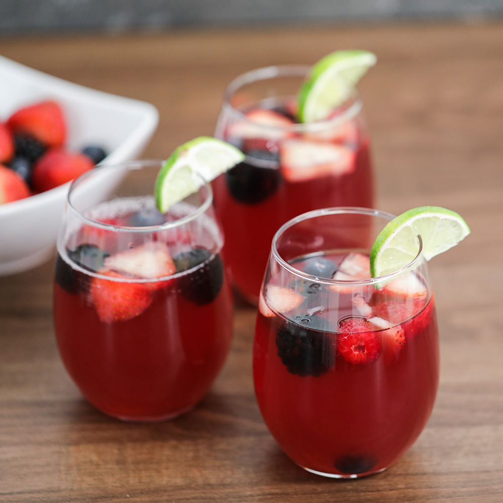 Berry cocktail drink served for a party