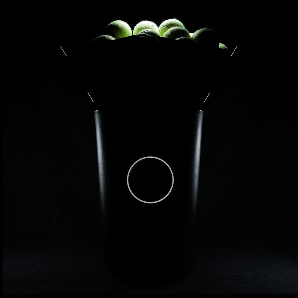 Portable, smart tennis ball machine
