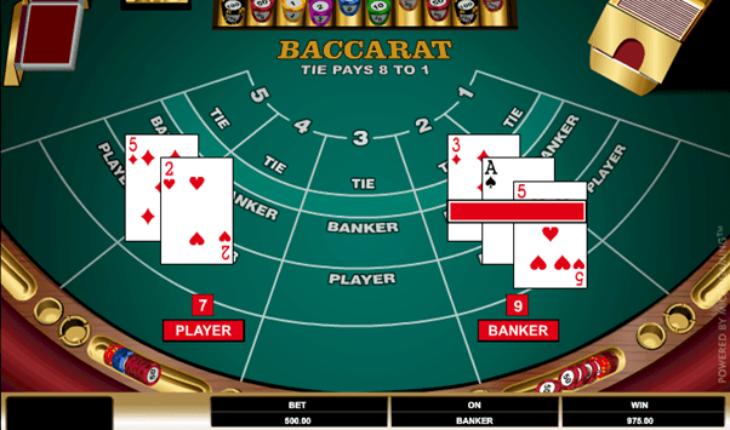 luật chơi baccarat online