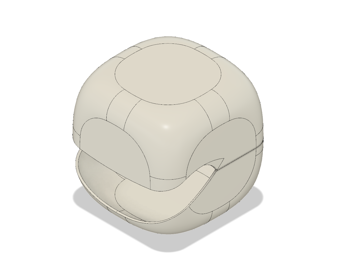 Cube Planter Head CAD Model