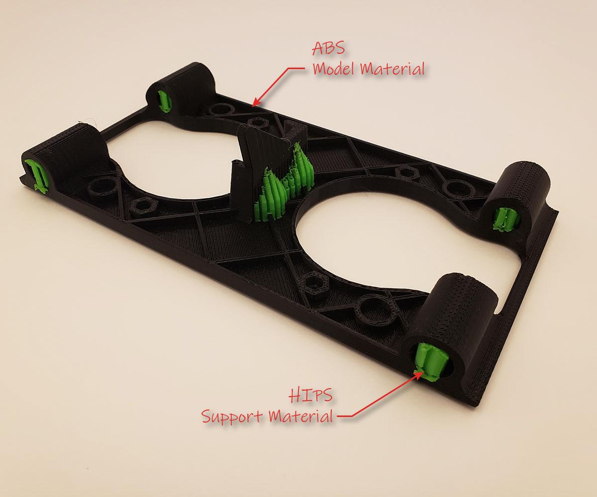 FFF 3D Print ABS and HIPS Breakaway