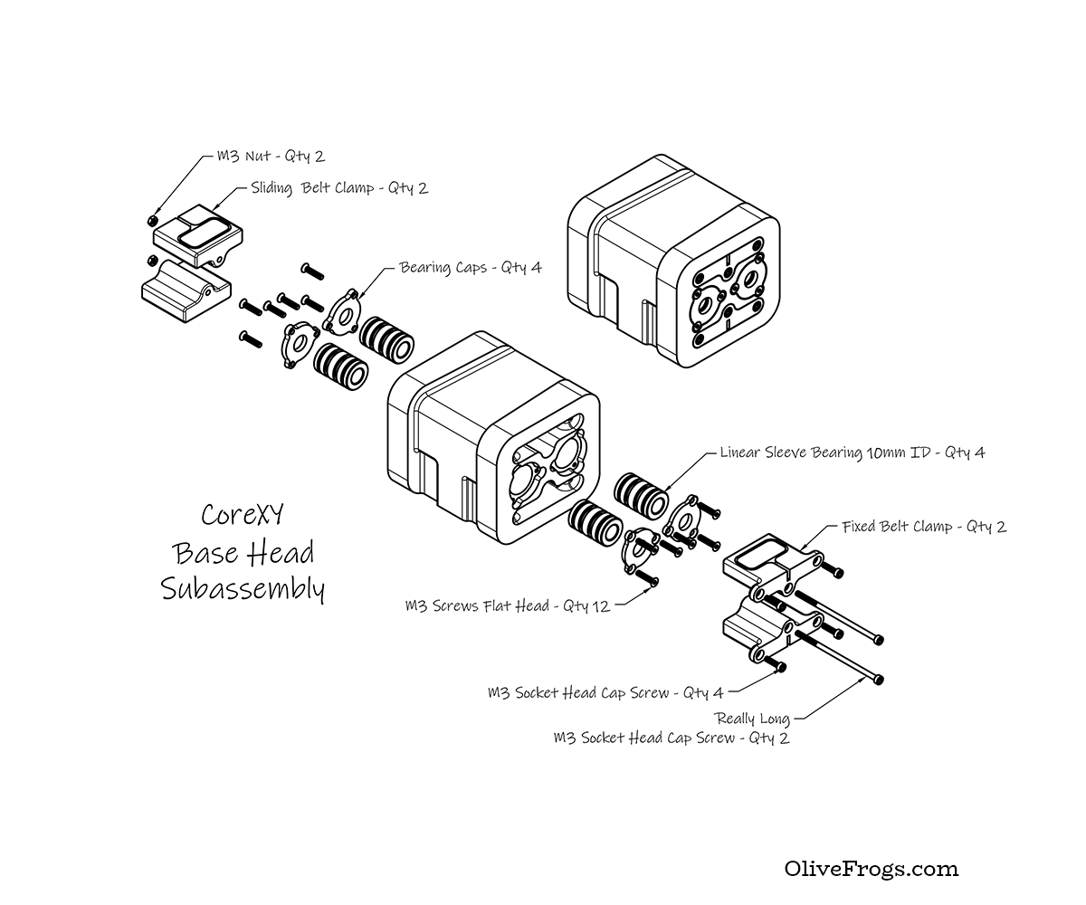 CoreXY Base Head Isometric CAD
