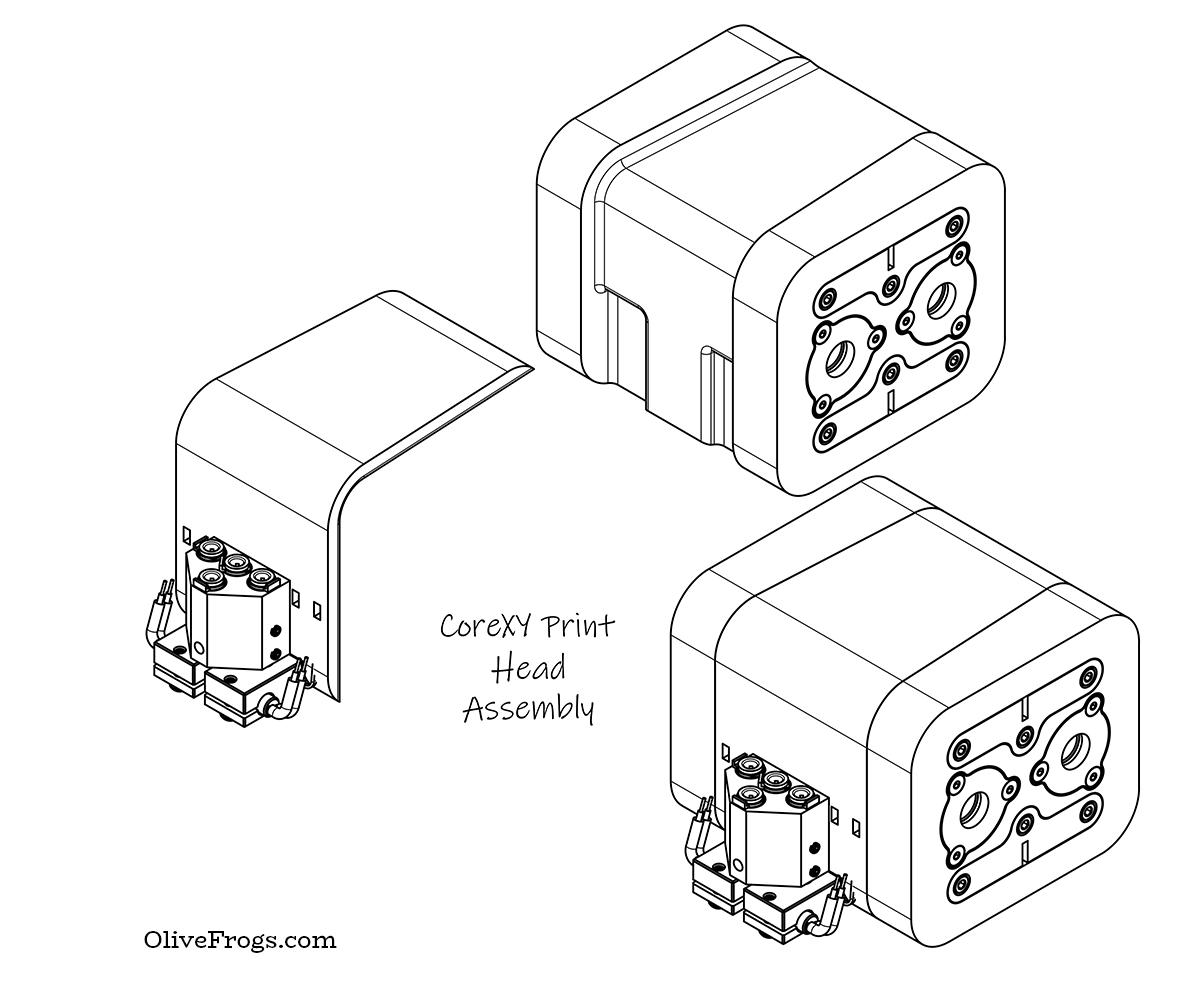 CoreXY Print Head Iso Assembly
