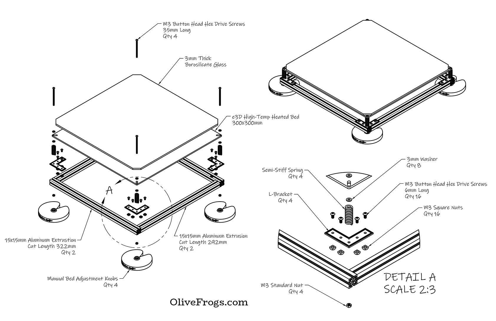 Print Bed Assembly CAD