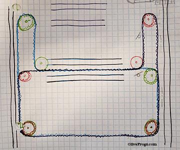 CoreXY Belt Path Sketch