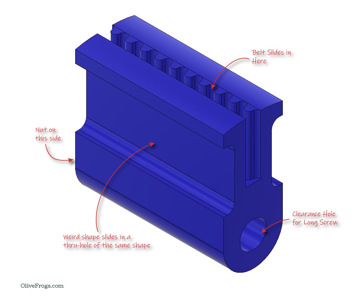 CoreXY Sliding Belt Retainer Rev01