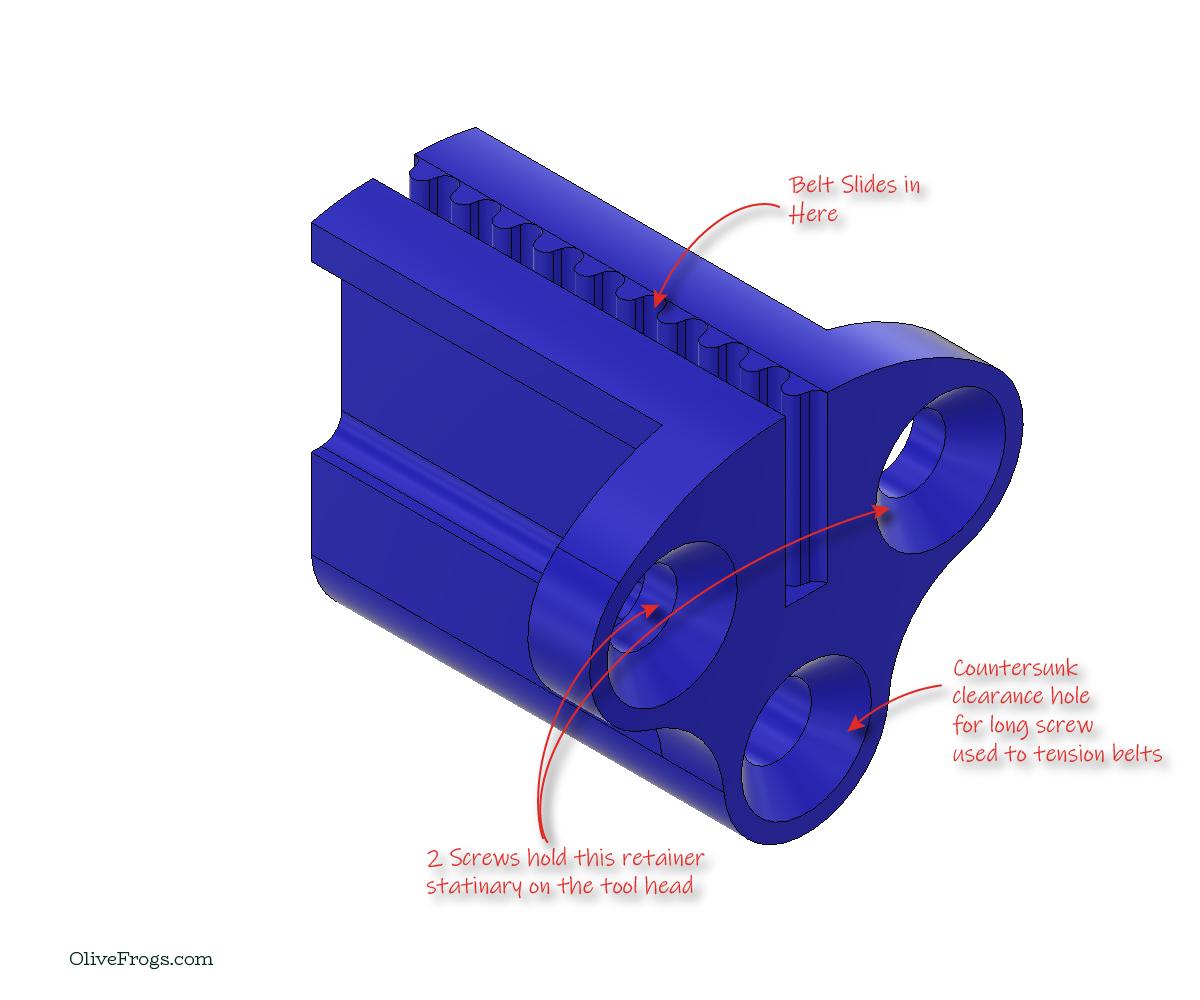 CoreXY Stationary Belt Retainer  Rev01
