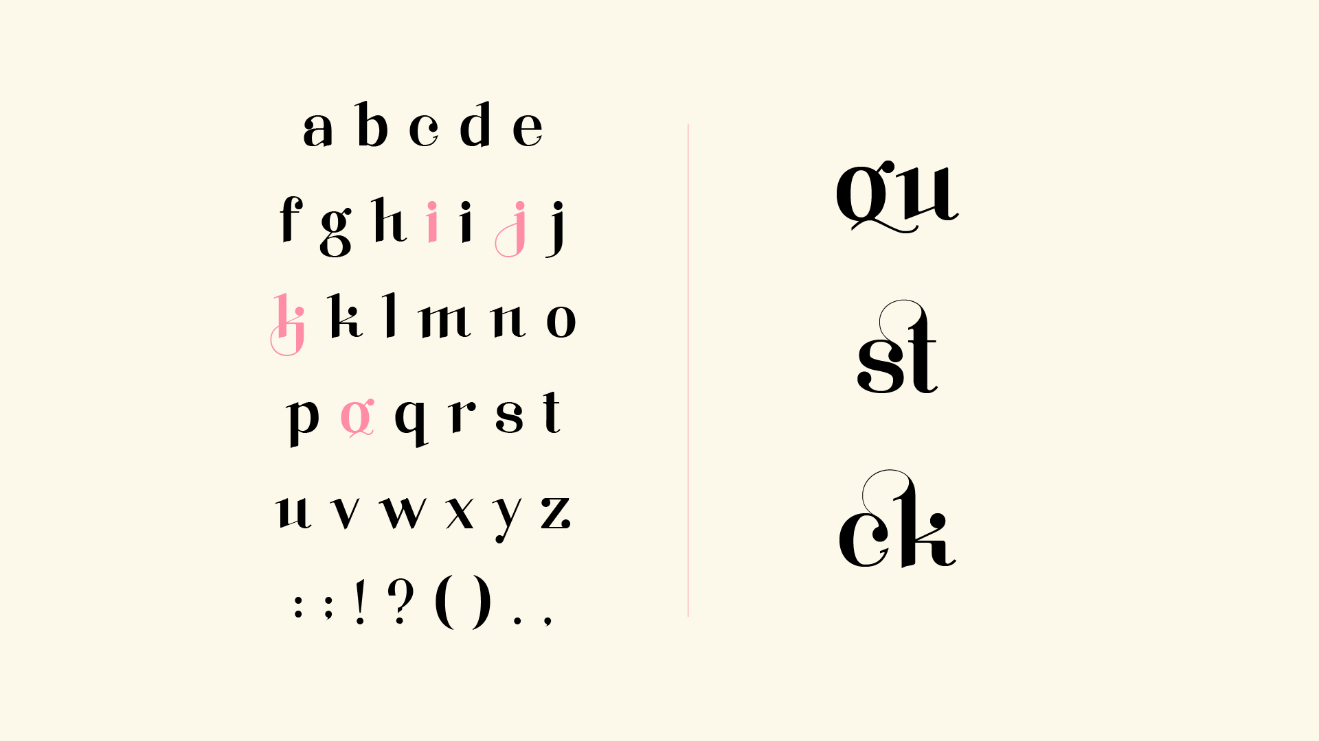 A typeface specimen for a variable font made for display purposes and kinetic identities, called Klout.