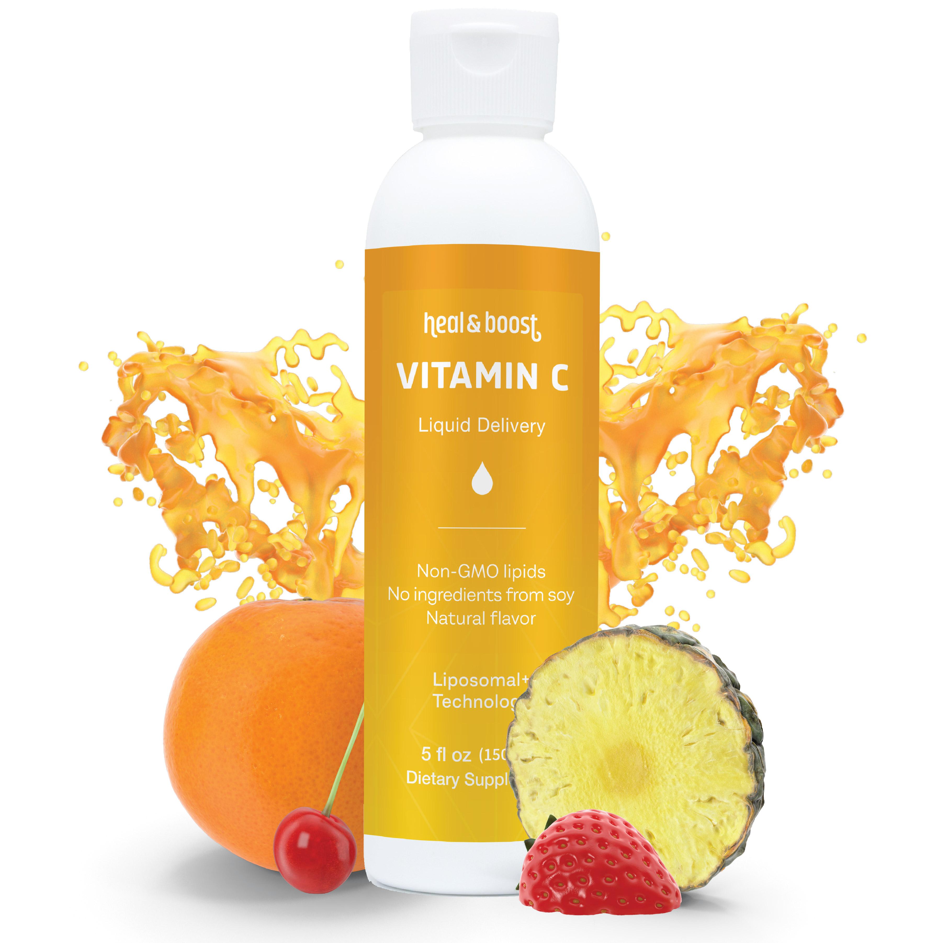 High absorbing vitamin c liposomal product bottle