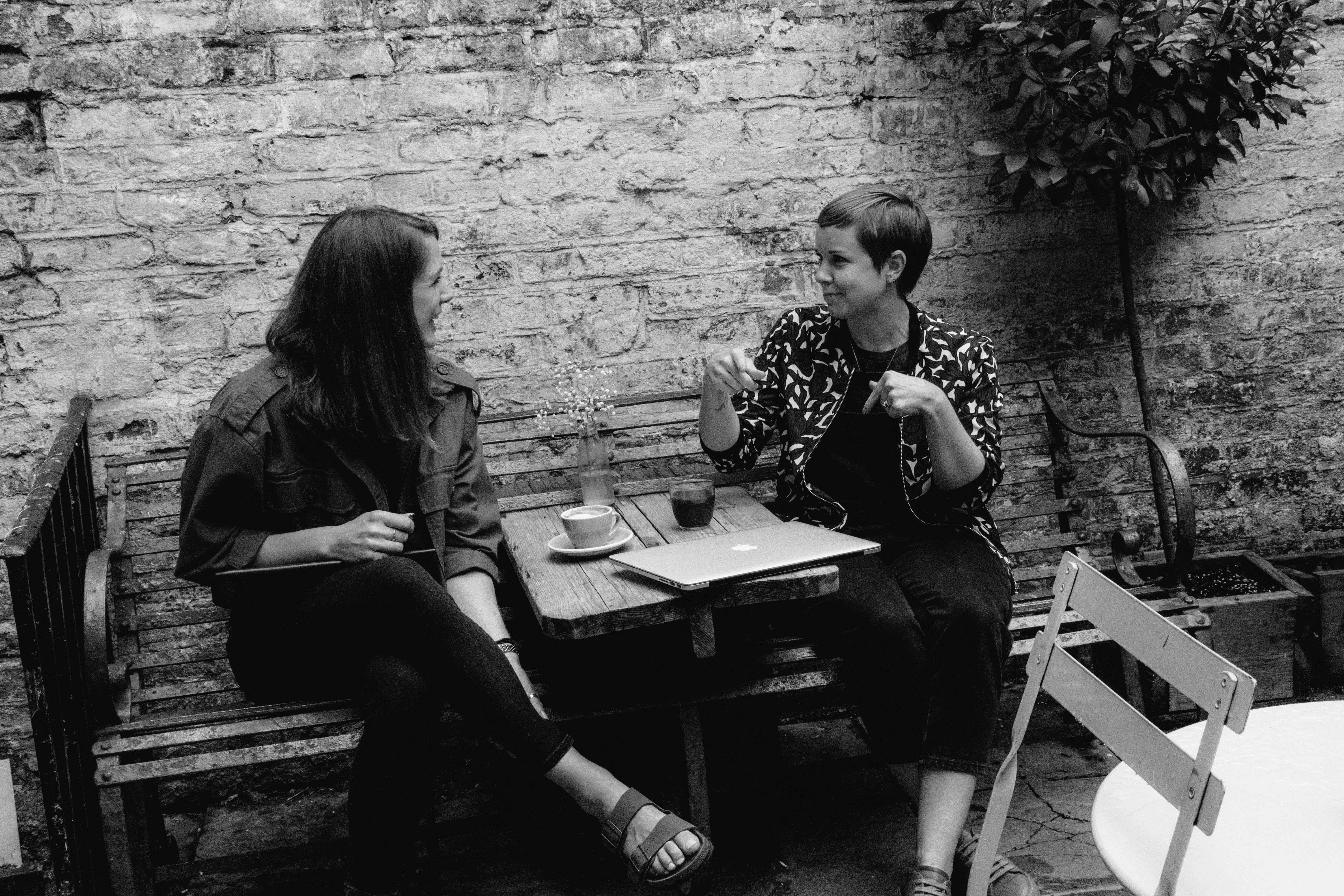 Chrissy Birtwistle and Lynsay Biss, Cousins having a chat