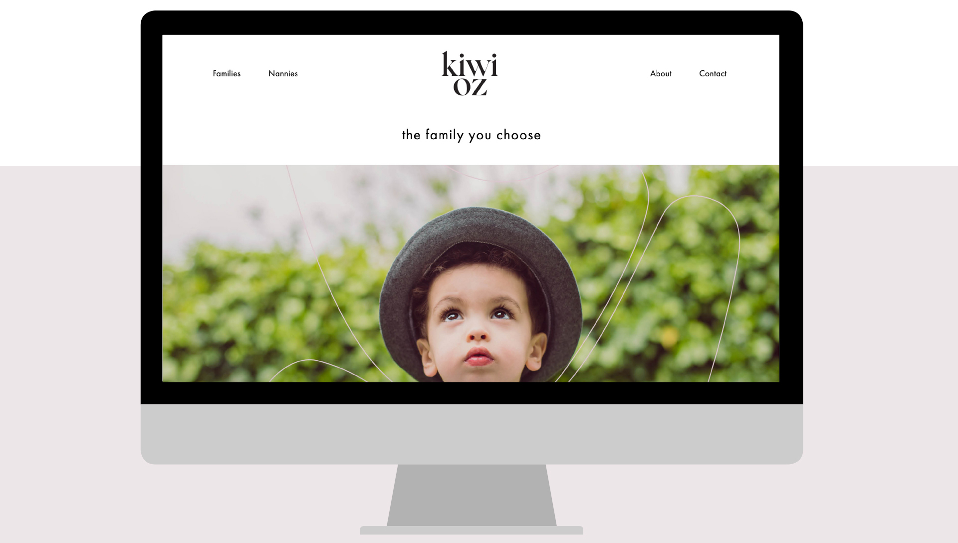 Cousin Branding designed and built the KiwiOz Nannies website