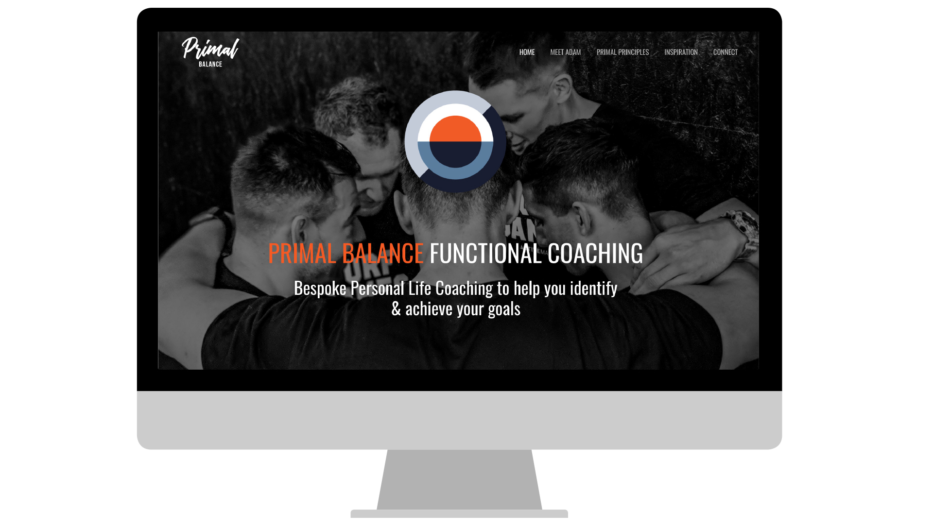Primal Balance Website designed by Cousin Branding