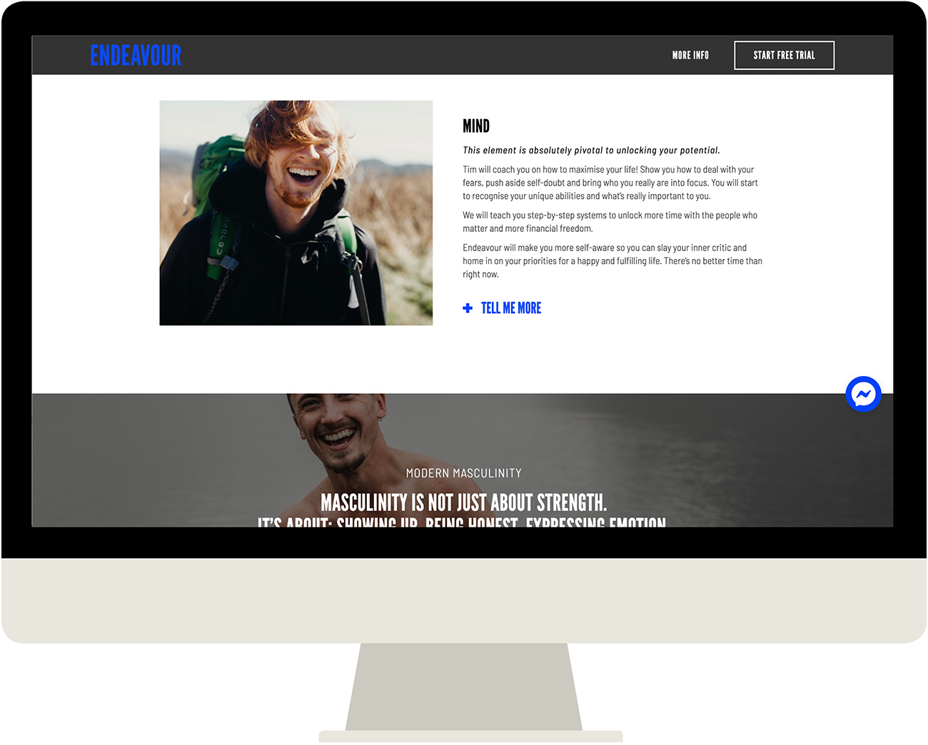 Primal Balance Website designed by Cousin Branding