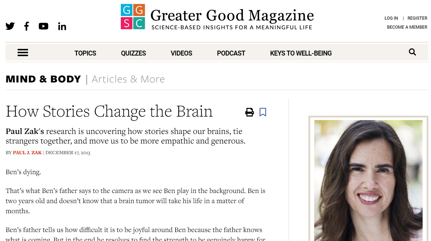 Top employer branding article: How Stories Change the Brain