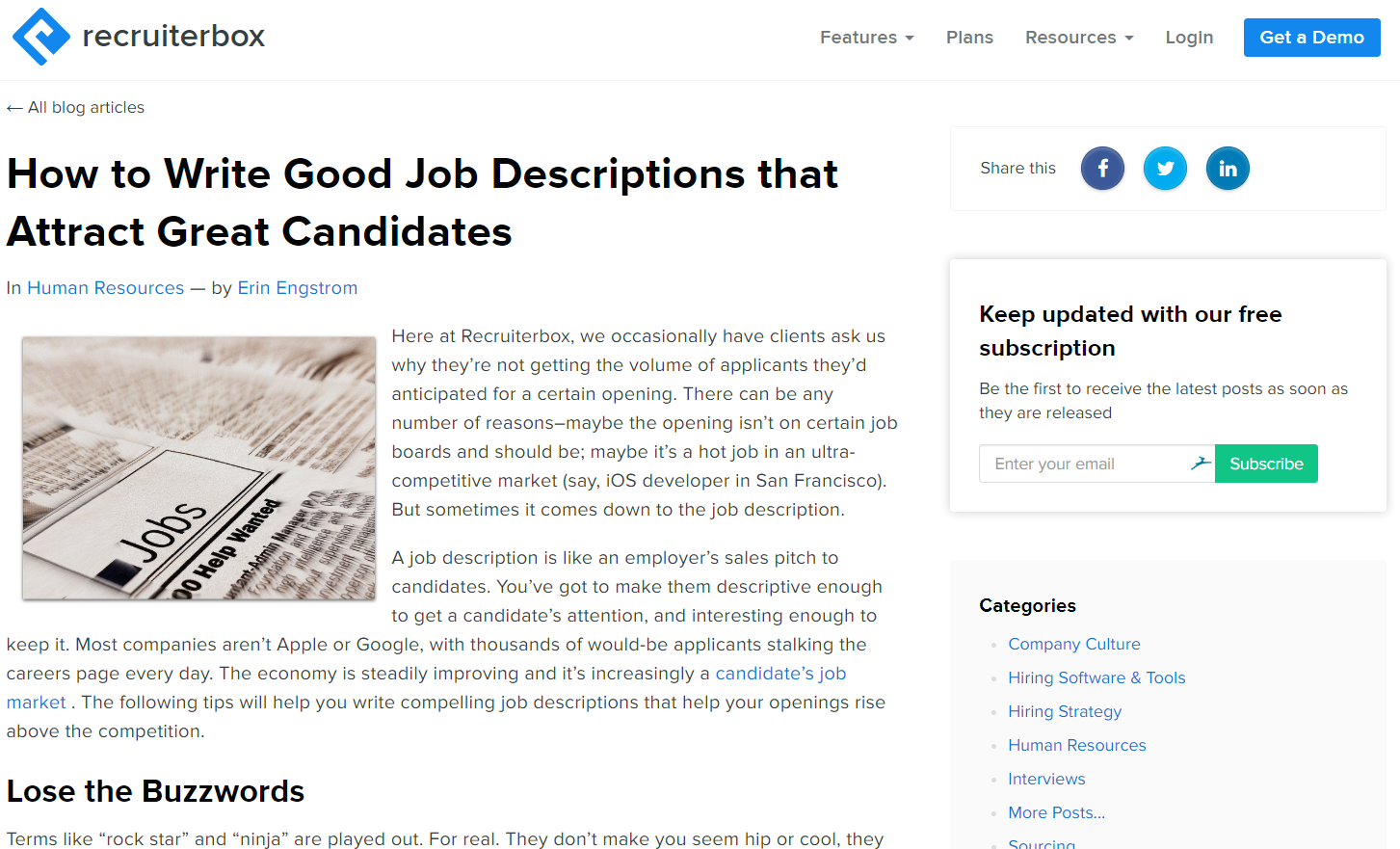 Top employer branding article: How to Write Good Job Descriptions