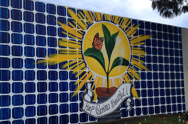 Community-created mural envisioning a clean energy future, supported by an EDF internal diversity grant