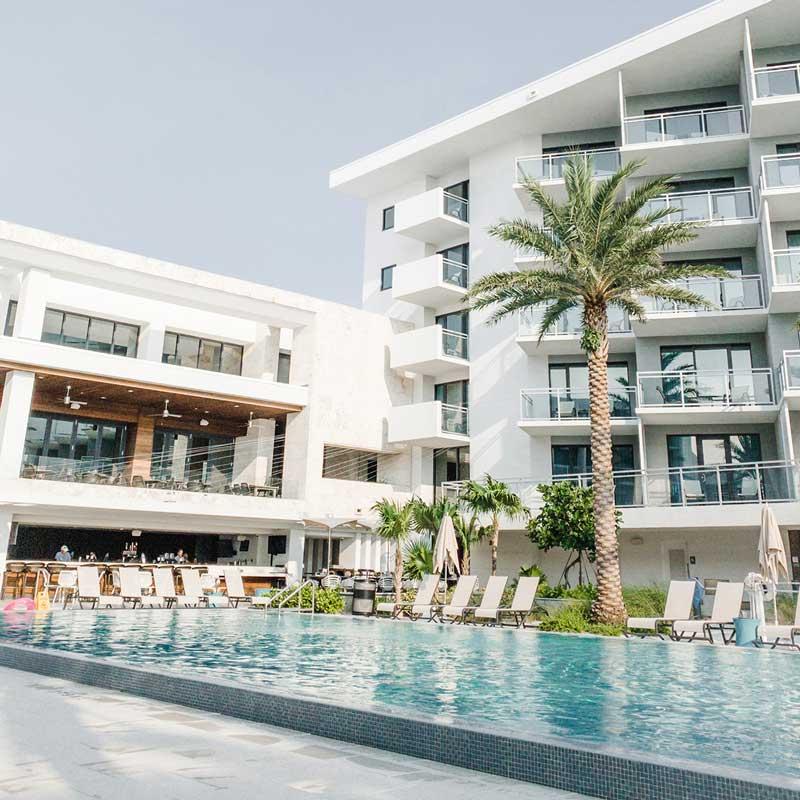 a pool at a Resort hotel