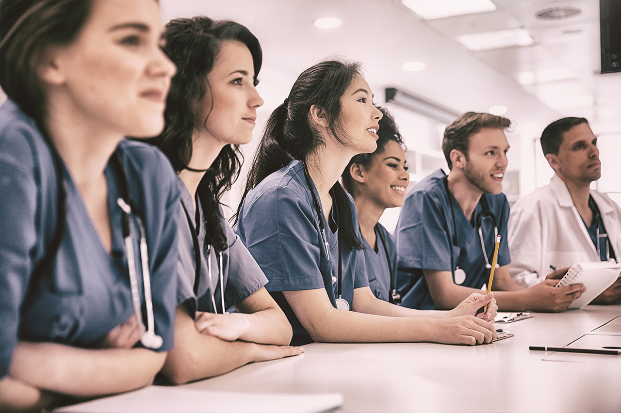 young medical professionals excited for learning