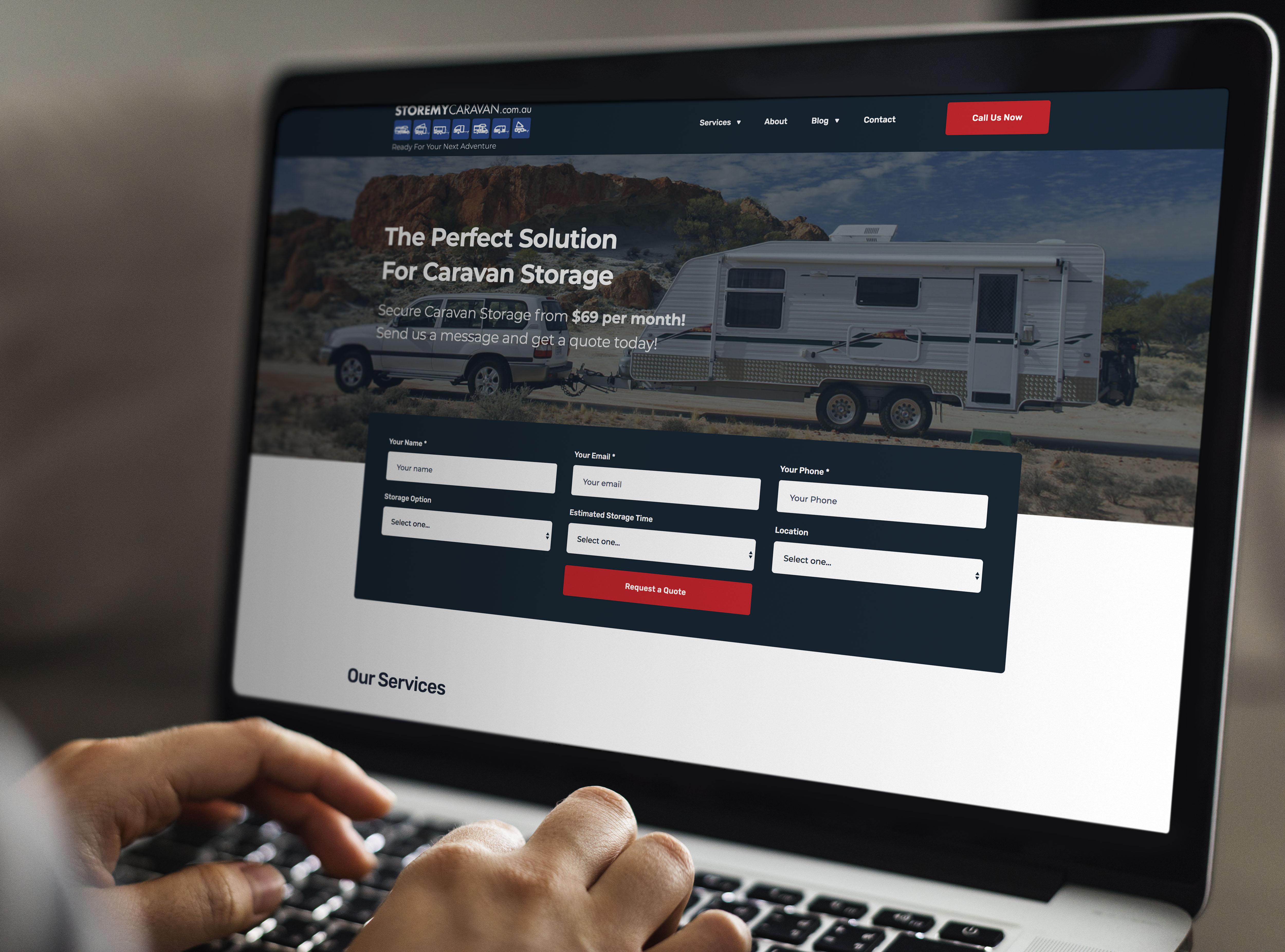 Caravan Storage website