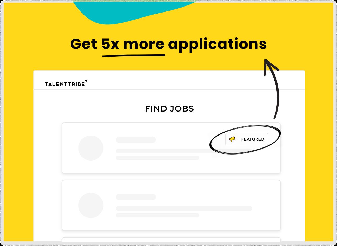 Sponsored job - get 5x more applications
