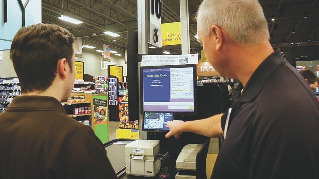 binairy eye cashier checkout