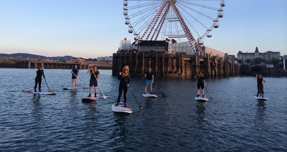 DLR tourism things to do: stand up paddle boarding