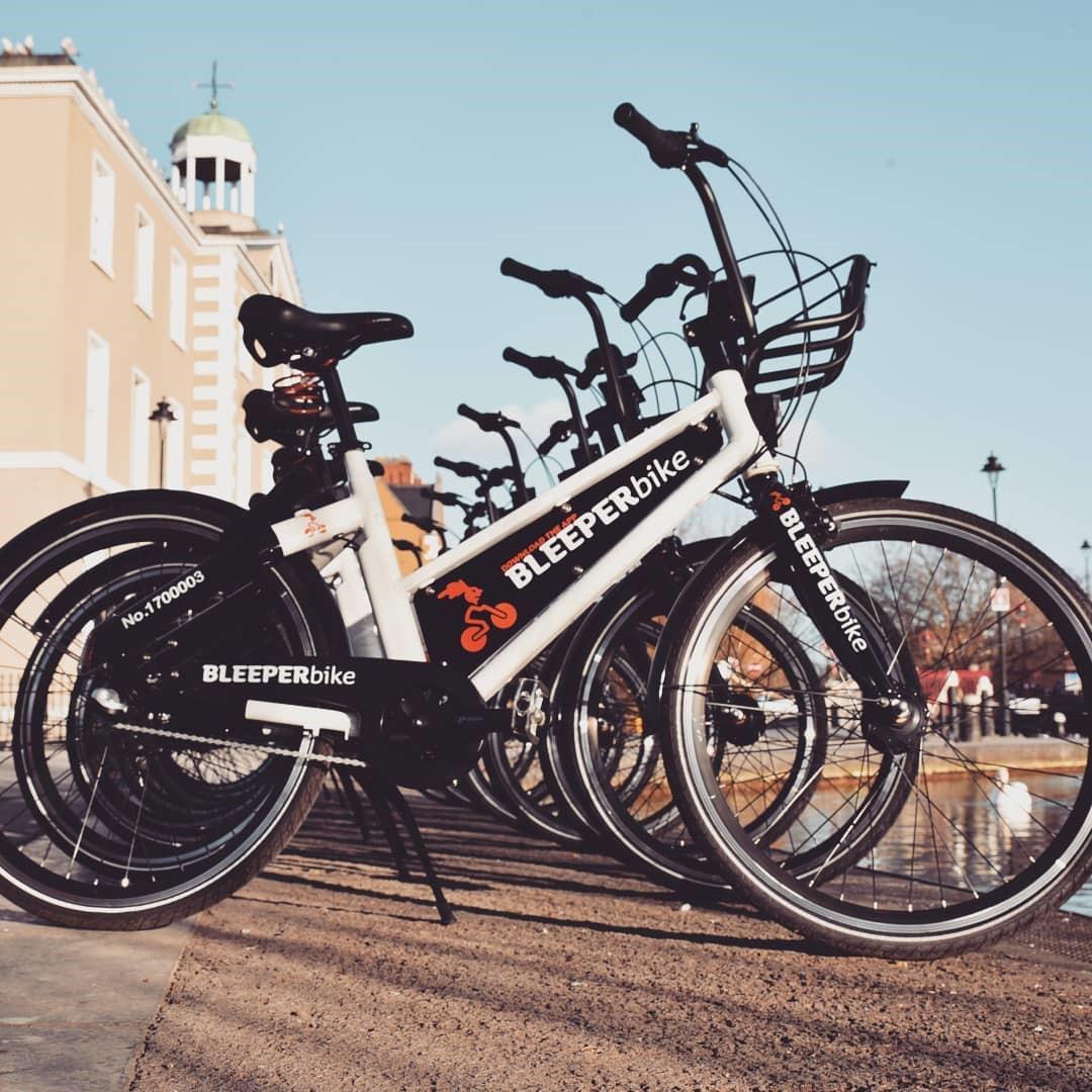 DLR Tourism: getting around. Bleeper Bikes