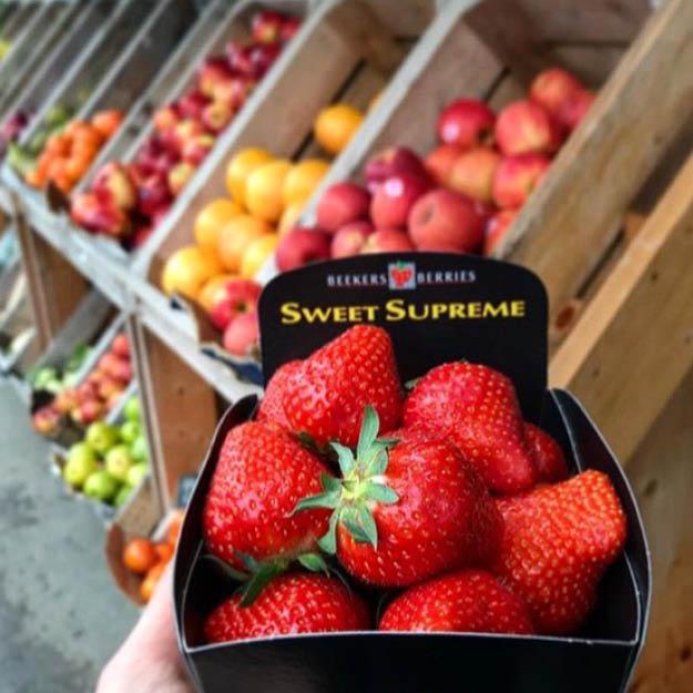 DLR Tourism eateries: local market fresh strawberries