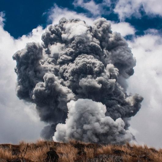 Explosion on mountain image