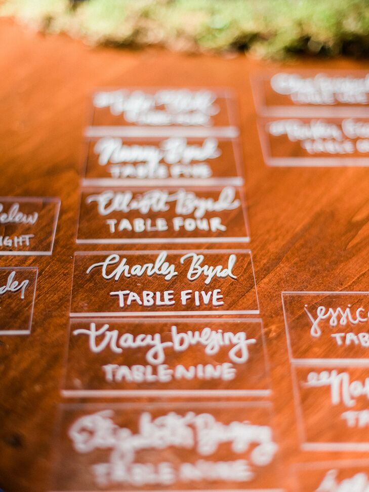 DIY Calligraphed Escort Cards