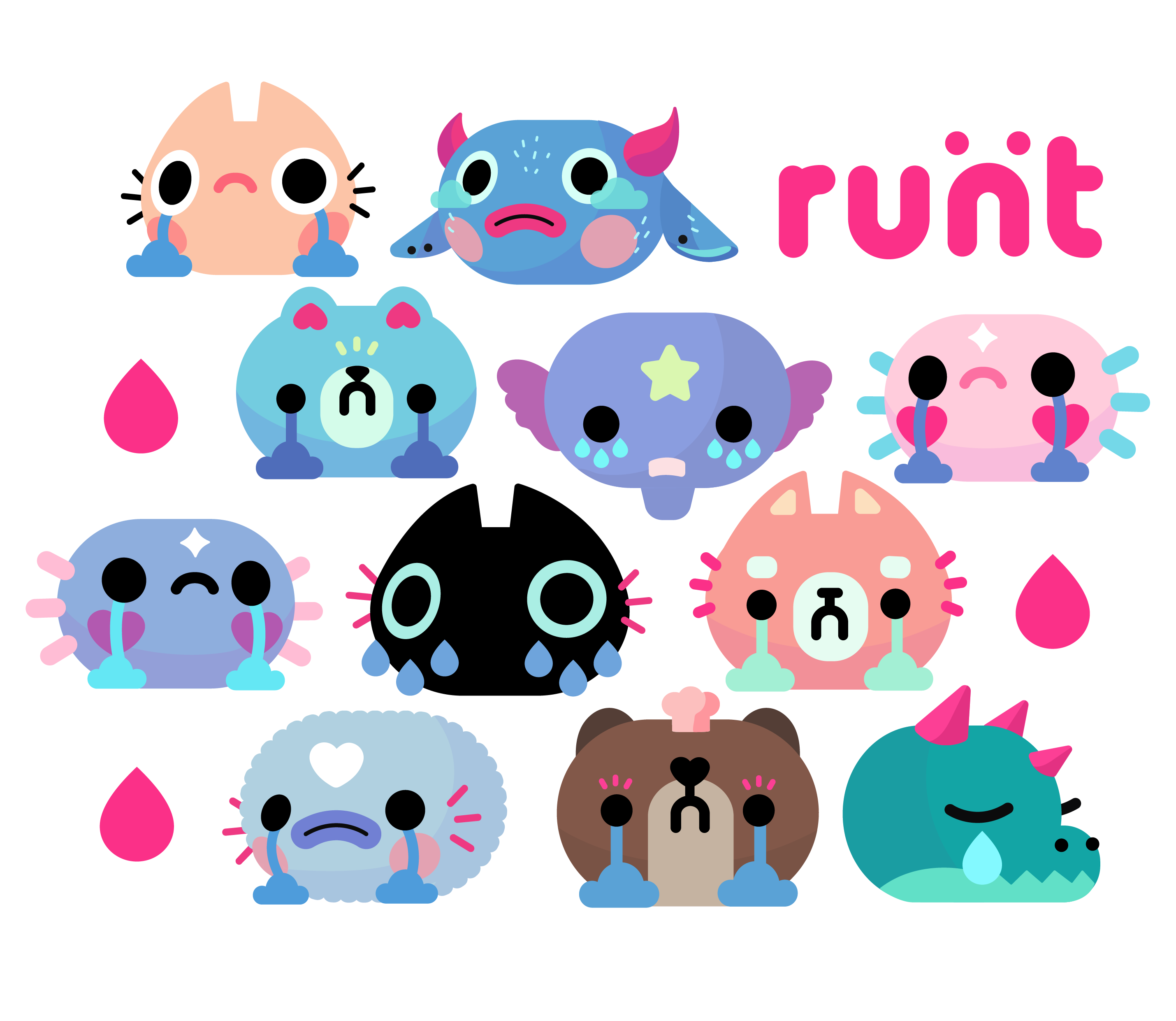 cute monster illustrations runt