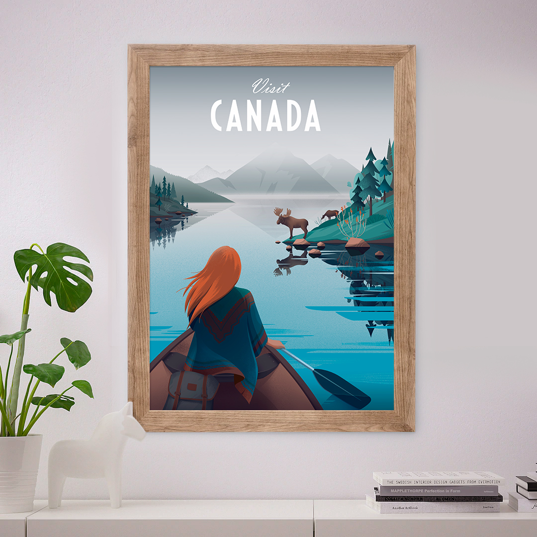 Canada Illustration Poster