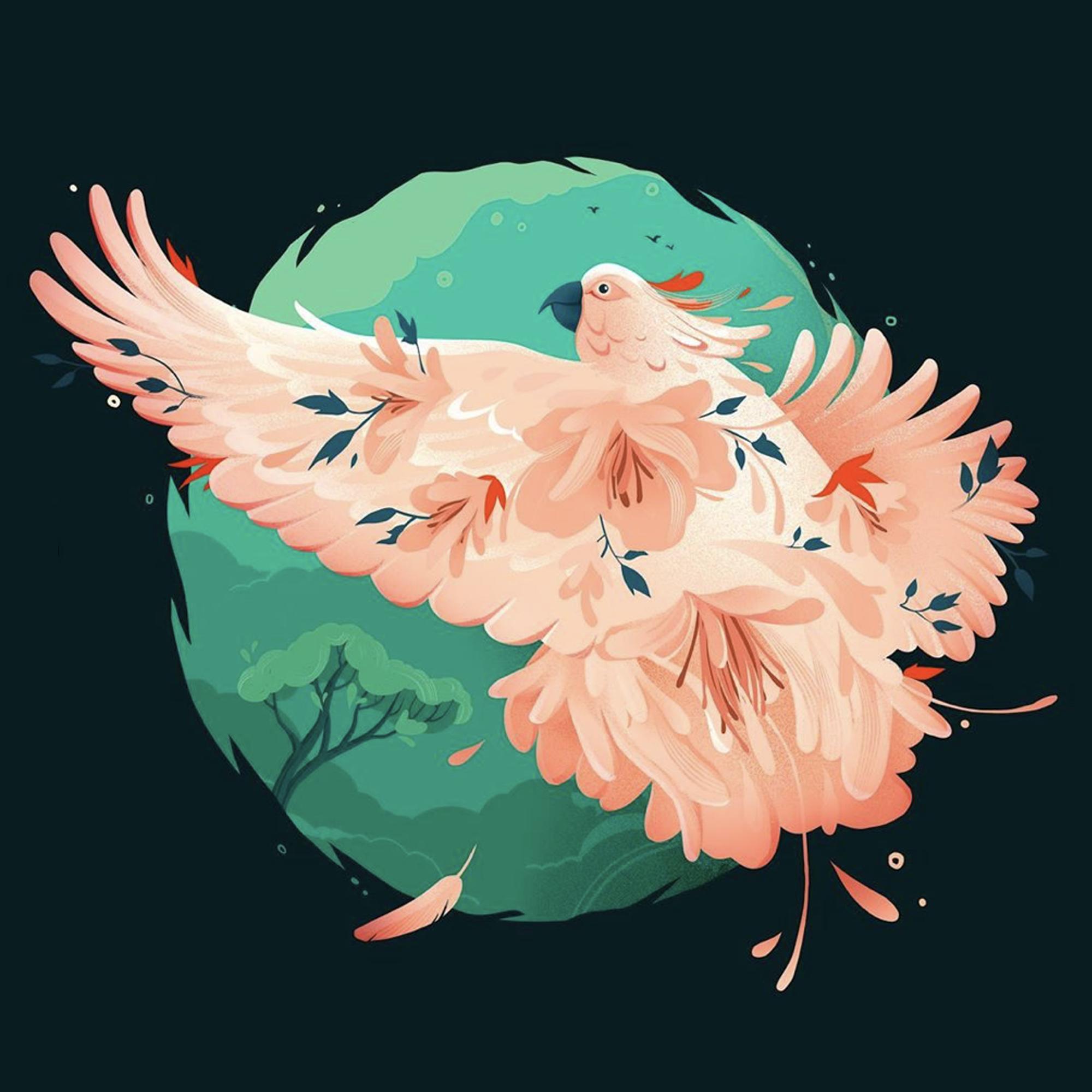 flying bird illustration
