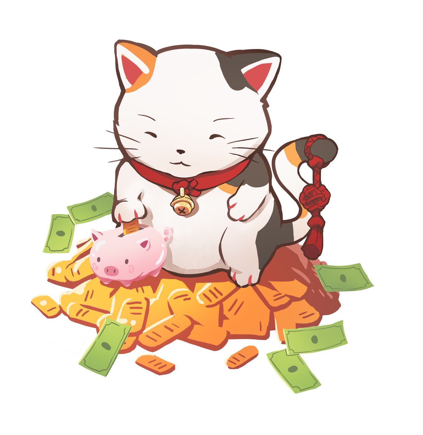chibi cat illustration