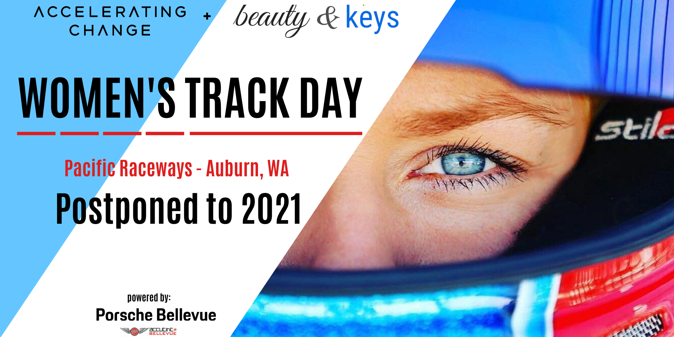 Women's Track Day at Pacific Raceways banner image featuring Christina Nielsen